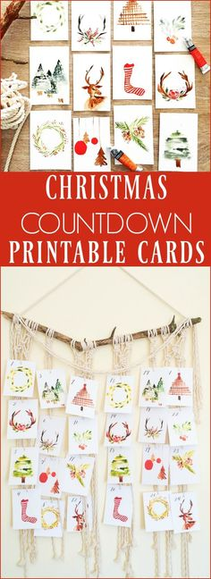 If you like doing a fun Christmas Countdown, be sure to grab these cute watercolor cards and used them for a fun countdown!