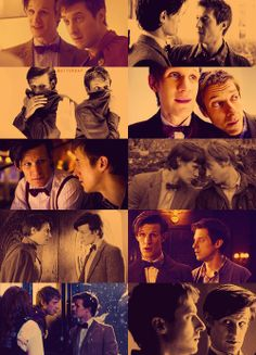 Epic Father and Son-in- law team. I like how The Doctor asks Rory if he can hug his, Rory's, wife before he hugs her after they are married, it's very sweet.