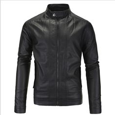 >> Click to Buy << NEW 2016 Autumn Men's Fashion British Style Motorcycle Leather Jacket Water Wash Stand Collar Black Fashion Zipper Jackets M-5XL #Affiliate
