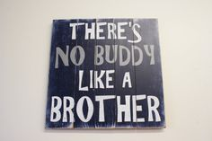 This is a wood pallet sign that measures 22 x 22. The background is painted Navy. Wording is White and Gray.  This piece is handpainted and
