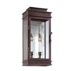 """View the Troy Lighting BF2972 Vintage 2 Light 20"""" CFL Outdoor Wall Sconce at LightingDirect.com."""