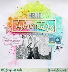 UK Scrap Addicts: Hello Adventure | Gemma Summers | Journalling