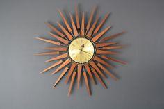 Mid-Century Modern Seth Thomas Star Burst Clock