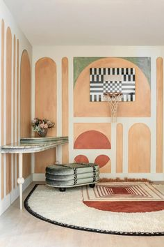 Full Court by Moniomi, Graphic Hand-Tufted Wool Rug For Sale at 1stDibs