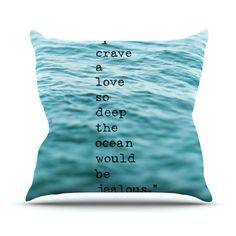 East Urban Home Crave Love by Debbra Obertanec Outdoor Throw Pillow