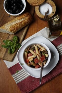Penne Pasta with Olives