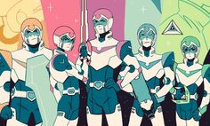 Voltron print! I had such a great time watching this show, I can't wait for season 2! - Sara Kipin