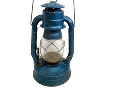 Dietz Air Pilot No 8 Vintage Oil Lantern Blue Camping Hunting Fishing Rustic Antique Collectible Railroad.via Etsy.