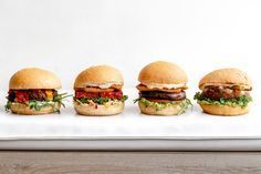 Our new all-natural, whole wheat buns. In an effort to bring you healthier, more nutritious plant-based food, all of our burgers and sandwiches will now be served on whole wheat buns! Vegan Burgers, Salmon Burgers, Vegan Comfort Food, Vegan Restaurants, Plant Based Recipes, Buns, Whole Food Recipes, Effort, Sandwiches