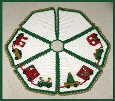 Crochet Christmas Tree Skirt Pattern - North Pole Express Tree Skirt Pattern
