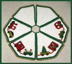 Crochet Christmas Tree Skirt Pattern - North Pole Express Tree Skirt Pattern