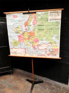 Carte ancienne de geographie, Europe et Union Soviétique