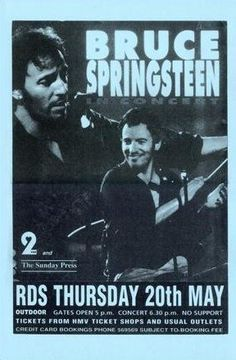 Bruce Springsteen In Concert LIVE 11x17 Rare Very Limited Concert Poster Print Only One on Amazon by Mypostergallery, http://www.amazon.com/dp/B007QWJWR2/ref=cm_sw_r_pi_dp_TaqQrb18EH2HQ