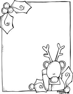 Melonheadz Illustrating A blank Rudolph letter form for Santa! Christmas Border, Noel Christmas, Christmas Colors, Christmas Themes, Christmas Stockings, Christmas Crafts, White Christmas, Christmas Doodles, Christmas Drawing