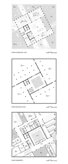 04 Plans Architecture, Museum Architecture, Architecture Drawings, Schindler House, Museum Plan, Contemporary Museum, Architectural Plants, Kindergarten Design, Plan Drawing