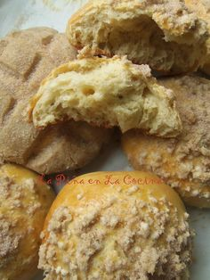 Pan de Huevo/Conchas~ Once you perfect that sweet yeast dough recipe, you can prepare a variety of Mexican style sweet breads.