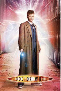 Póster Doctor, silueta Dr. Who