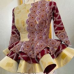 African Print Dress Designs, African Design, African Fashion Ankara, African Dress, Eid Outfits, Fashion Outfits, Nigerian Wedding Dresses Traditional, African Blouses, African Clothing For Men