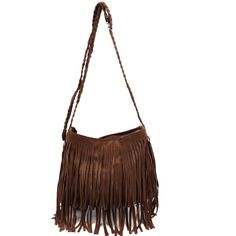 Faux Suede Layered Fringe Shoulder Bag ($29) ❤ liked on Polyvore featuring bags, handbags, shoulder bags, purses, accessories, bolsas, multi, boho purse, hand bags and crossbody shoulder bags