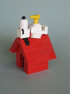 Art Snoopy and Woodstock lego-fun