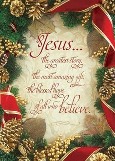 Jesus is the greatest gift~ AMEN! I wish everyone knew & believed it so they could have Jesus as their best Friend too! All Things Christmas, Vintage Christmas, Christmas Holidays, Christmas Crafts, Christmas Decorations, Xmas, Christmas Ornaments, Merry Christmas Quotes Wishing You A, Merry Christmas Jesus