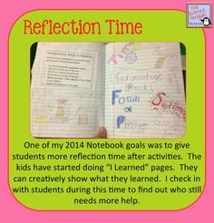 The Science Penguin: Reflection Time during Notebooking