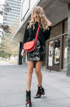 Christine Andrew shares one of this season's most feminine fall combos that's already in your closet and her favorite ways to style a little red dress. Older Women Fashion, Womens Fashion, Fashion Edgy, Fashion Tips, Fashion Trends, Hello Fashion Blog, Women's Fashion Dresses, Fashion Shoes, Fashion Jewelry