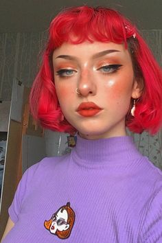 Lace Front Wigs, Lace Wigs, Cabelo Inspo, Pink Hair Streaks, Red Wigs, Coloured Hair, Hair Shows, Lace Hair, Grunge Hair