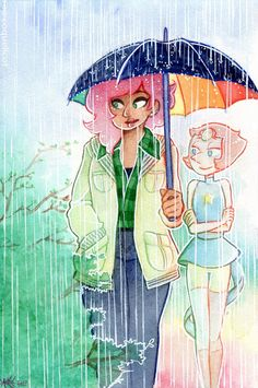 Spring ~ I swear I'm never drawing umbrellas again. (Says the girl whose favorite romantic tropes include rain rip)