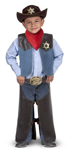 Melissa & Doug Cowboy Role Play Costume Child Cowboy Halloween Costume Ideas