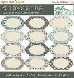 60%OFF Oval editable printable labels in assorted by bylilmade