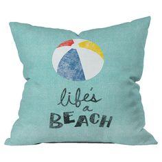 Nick Nelson Lifes A Beach Pillow