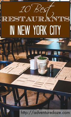 Whether you're craving sushi, authentic French cuisine, or even just some unique takes on American classics, NYC has all that and more. Check out our picks for the best restaurants in the Big Apple!