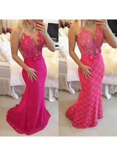 Trumpet/Mermaid Lace Long See Through Prom Evening Formal Dresses 99602014