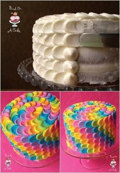 Deco torta arcoiris
