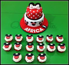 Tarta + Cupcakes Minnie Mouse
