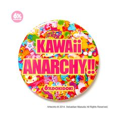 Can Badge / KAWAii ANARCHY!! - 6%DOKIDOKI WEB SHOP ($6.56) ❤ liked on Polyvore featuring accessories