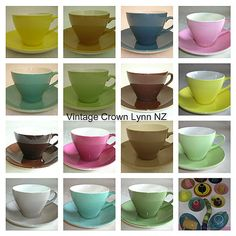 ~*~*~* Our aim is to supply our customers an opportunity to hire from our Gorgeous selection of Crown Lynn dinnerware to beautify their table settings / venue. Color Glaze, Dinnerware, Opportunity, Table Settings, Pottery, Crown, Ceramics, Colour, Tableware