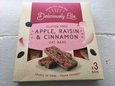 Deliciously Ella Gluten Free Apple,Raisin and Cinnamon Oat Bars. Made in the UK.