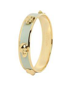 AQ-Minty andgold 3D ENAMEL SKULL BANGLE-Must Have it!