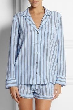 e910af89a3 Equipment - Lilian striped washed-silk pajama set