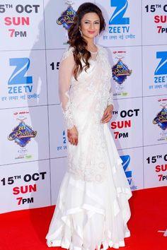 Divyanka Tripathi In White Saree,Designer saree,wedding saree