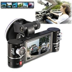 Microcassette Recorders, KOOZIMO New Dual Lens Car Camera Vehicle DVR Dash Cam Two Lens Video Recorder F600 Black