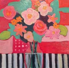 "Annie O'Brien Gonzales: Contemporary Abstract Still Life Art Painting ""SPRING FORWARD"" by Santa Fe Artist Annie O'Brien Gonzales-http://annieobriengonzalespaintings.blogspot.com/2015/02/contemporary-abstract-still-life-art.html"