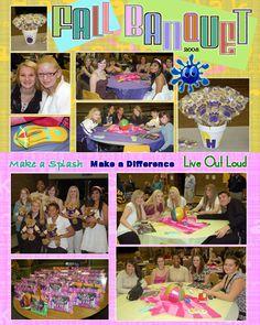 Make a splash Banquet idea Cheerleading banquet