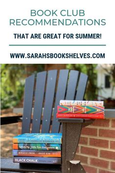 Book Club Recommendations That Are Great for Summer: These book club books are engrossing and don't require a ton of concentration, but would still make for great discussion! They're all perfect for your book club's summer reading list! #summerreading #books