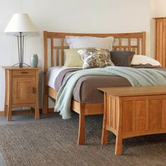 Our Contemporary Craftsman Low Footboard Bed features unique, clean, Arts and Crafts styling. Crafted in Vermont using natural hardwood.