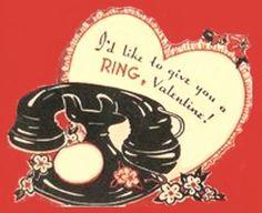 vintage Valentine phone