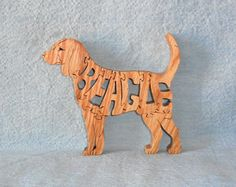 Beagle Dog Hanmade Scroll Saw Wooden Puzzle