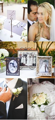 Like the display of the parents and grandparents wedding pictures...